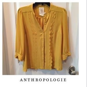 Anthro blouse Meadow Rue